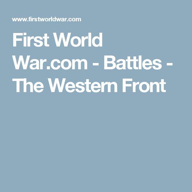 First World War.com - Battles - The Western Front