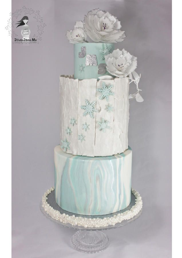 A Winter Tale by 2cute2biteMe(Ozge Bozkurt) - http://cakesdecor.com/cakes/262496-a-winter-tale