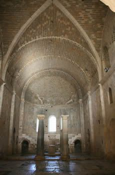 St Nicholas Church, Myra, Turkey Apse with columns.. The actual church of the Beloved Bishop