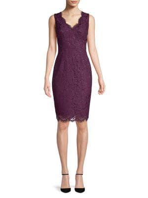 Vince Camuto - Sleeveless Scalloped Lace Dress  8200af8ce