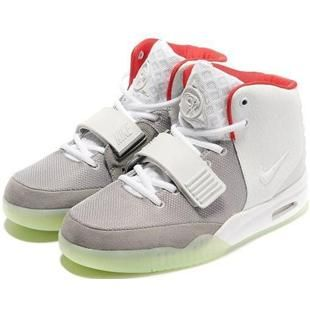 Mens Air Yeezy Shoes Grey White Red
