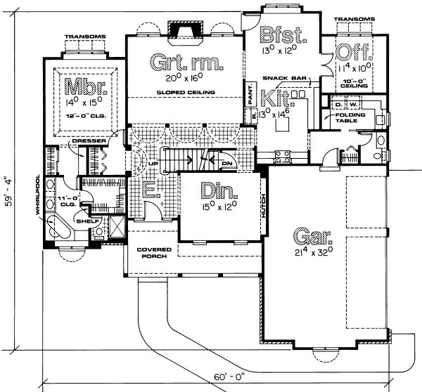 Plan No.156592 House Plans by WestHomePlanners.com