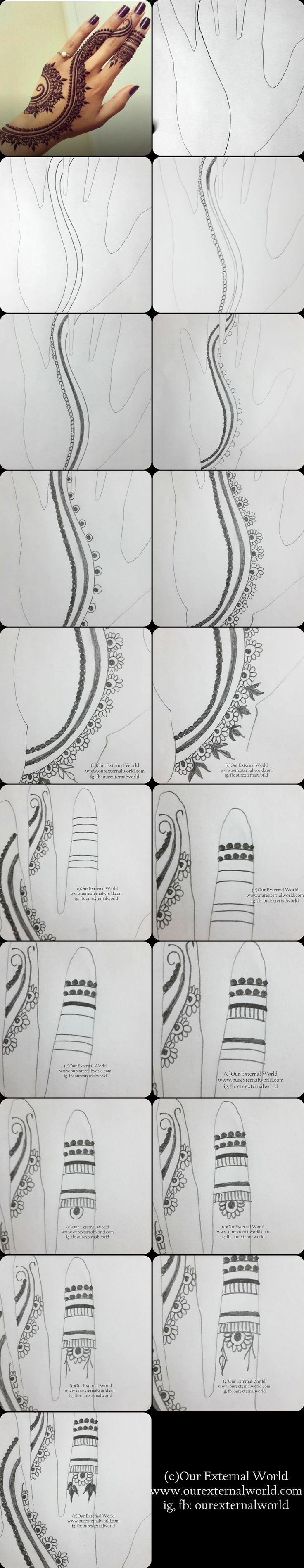 1000 Ide Tentang Desain Henna Di Pinterest Inai Mehndi Dan