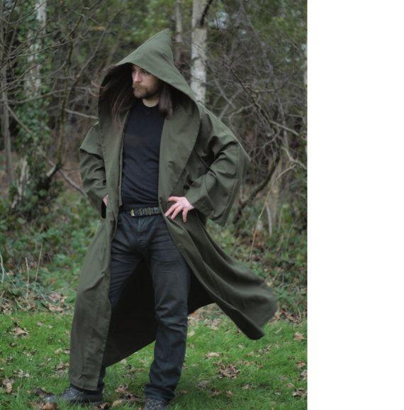 Druid cloak, ranger robe, moss green | LARP-Like Outerwear ...