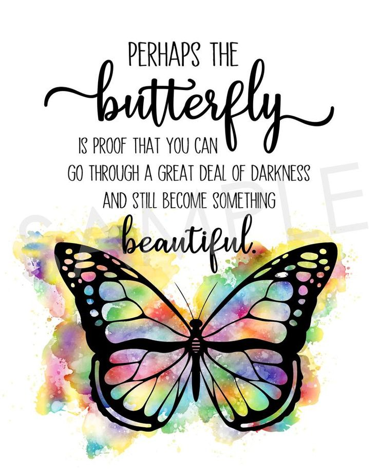 Butterfly inspirational printable wall decor butterfly