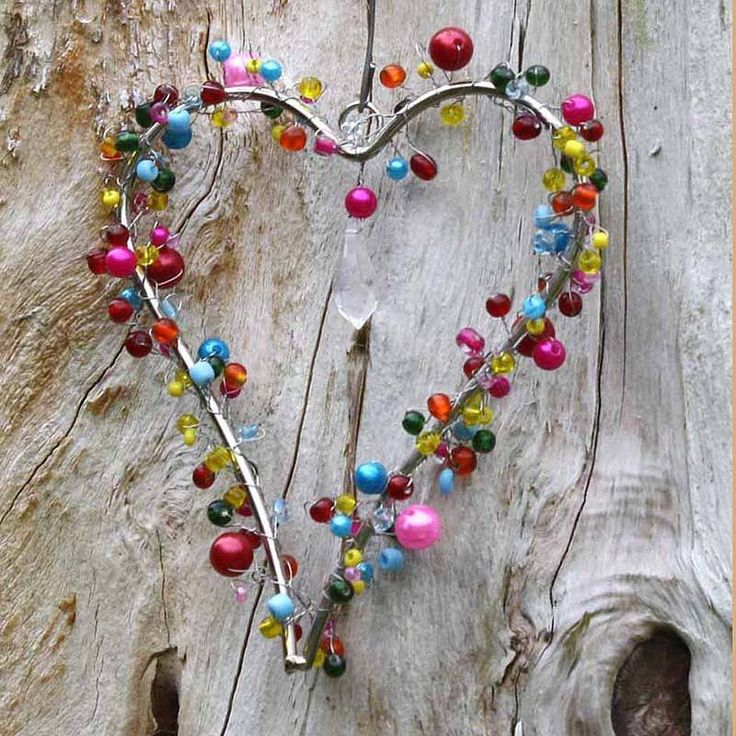 wire and beads wrapped around heart...who knew?