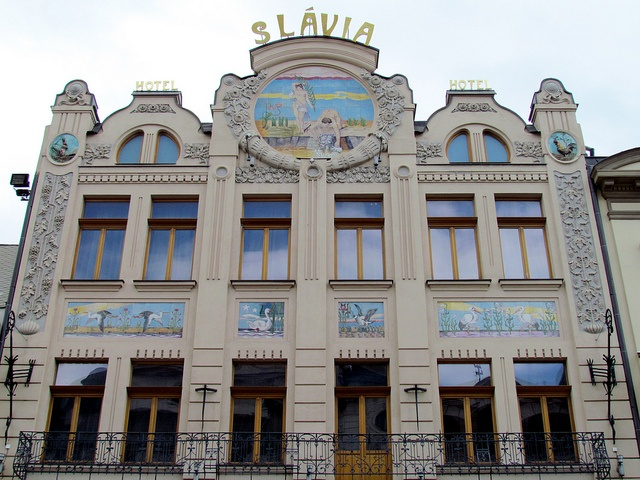 I slept there. Hotel Slávia, Košice. August 2005