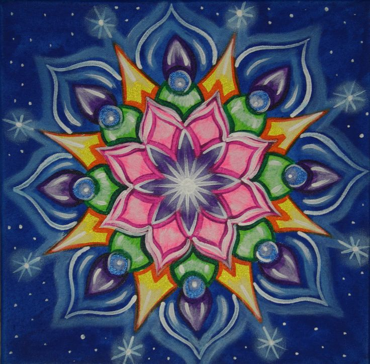 Mandala-28 - I love the pink explosion swirling levels of blues and more.