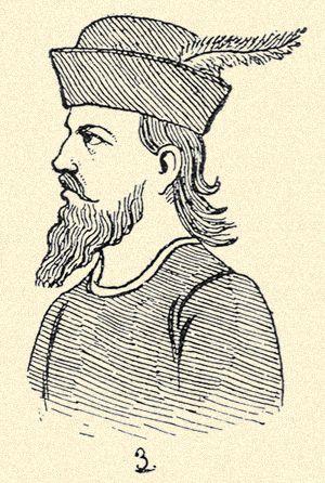 35. Magyar viselet a XV. század dereka táján. | Magyar viseletek története | Arcanum