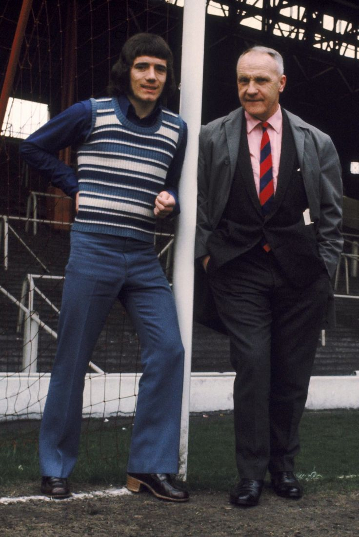 Kevin Keegan and Liverpool manager Bill Shankly. Anfield, Liverpool, 1971