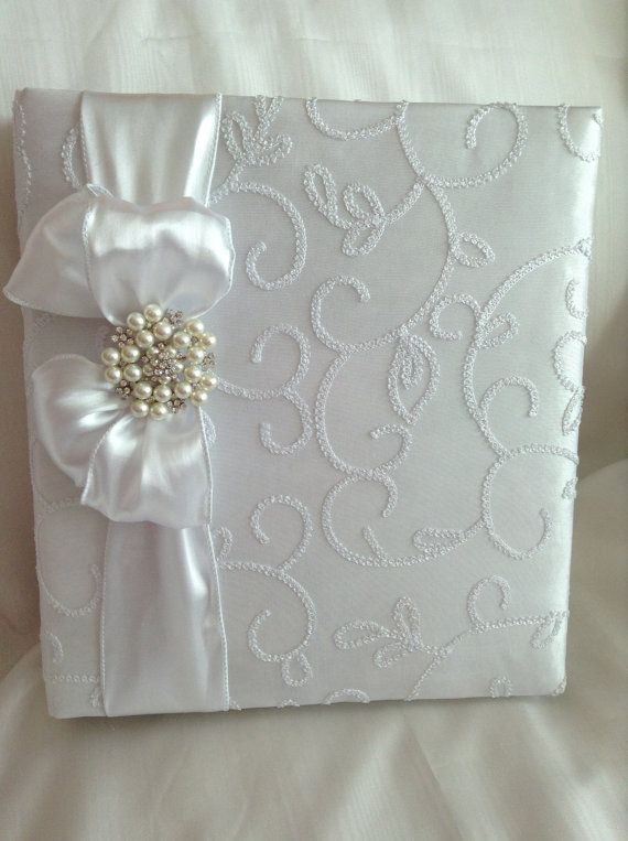 Beautiful White Taffeta Wedding Photo Album by PhotoAlbumsbyNancy, $60.00