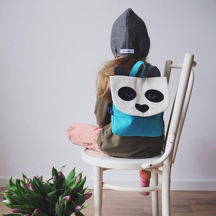 Sklep internetowy Lady Stump | Plecak Mała Panda model #backpack #panda #backtoschool #handmadebackpack #plecak #plecakdladziecka #plecakpanda #plecaki