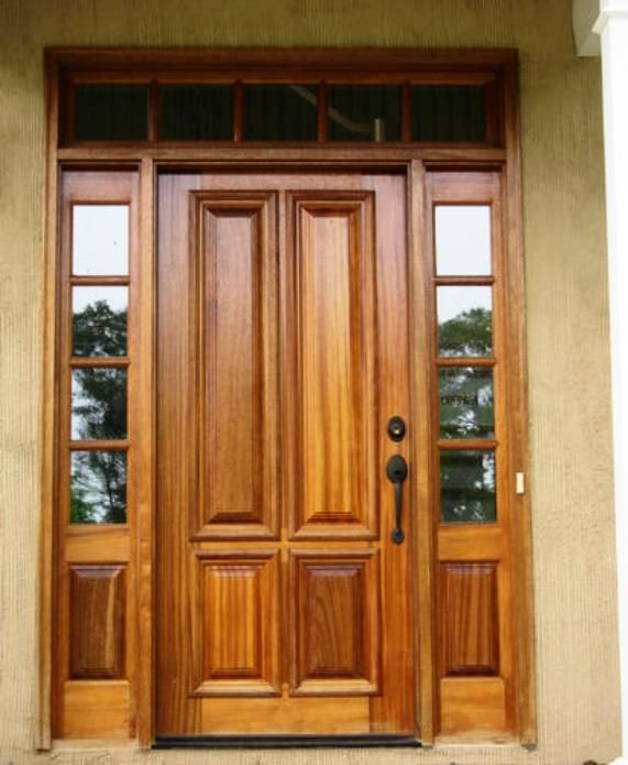 25 best ideas about entry door with sidelights on for Black wooden front door