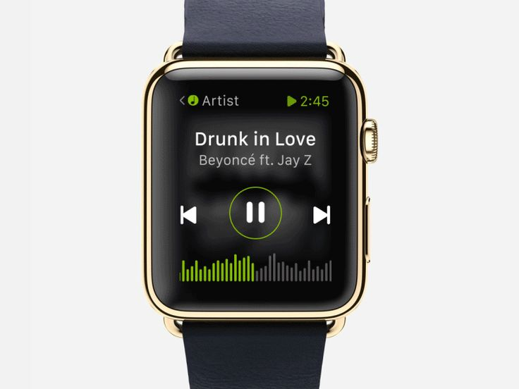 Dribbble - Spotify |  Watch by Boris Borisov