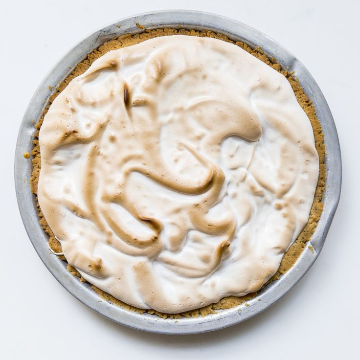 The addition of gelatin is what makes the meringue-like topping stay billowy but firm, without weeping, even at room temperature.
