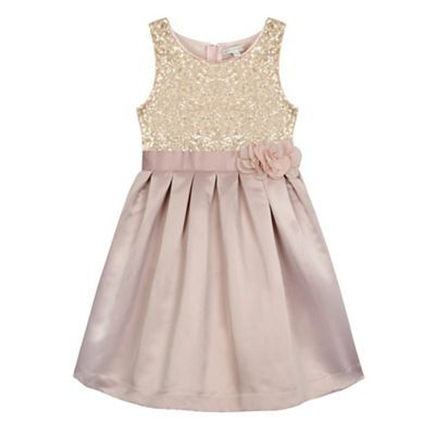 RJR.John Rocha Girls' gold sequin bodice dress | Debenhams