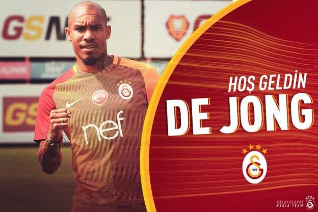 Netherlands midfielder Nigel de Jong, 31, has left LA Galaxy and joined Turkish…