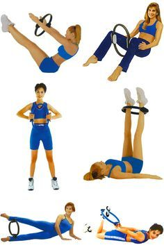 pilates exercise with ring - Google Search Yoga Fitness - http://amzn.to/2hmQneS