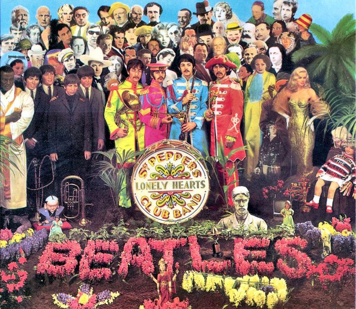 """Sgt. Pepper's Lonely Hearts Club Band (often shortened as Sgt. Pepper's) is the eighth studio album by the English rock band The Beatles, released on 1 June 1967 on the Parlophone label and produced by George Martin. The album is widely regarded as one of the greatest of all time, and has since been recognised as one of the most important albums in the history of popular music, including songs such as """"Lucy in the Sky with Diamonds"""" and """"A Day in the Life"""". Recorded over a 129-day period begi...: Music, Album Covers, Club Bands, The Beatles, Lonely Heart, Heart Club, Lonelyheart, Sgt, Peppers Lonely"""