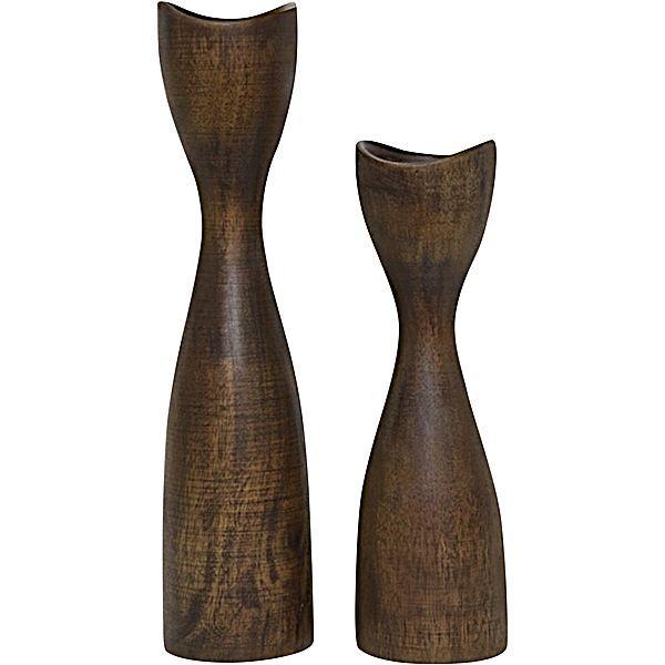 Wooden Tea Light Candle Holder (Set of 2)