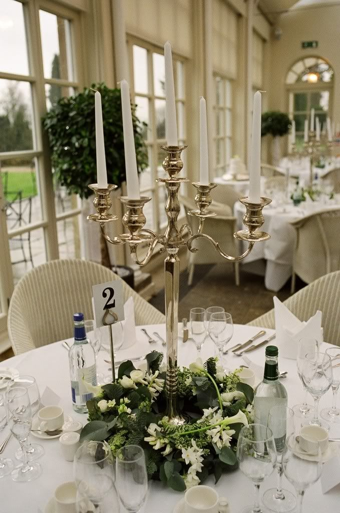 Pollen4hire Candelabra With Floral Base Decoration