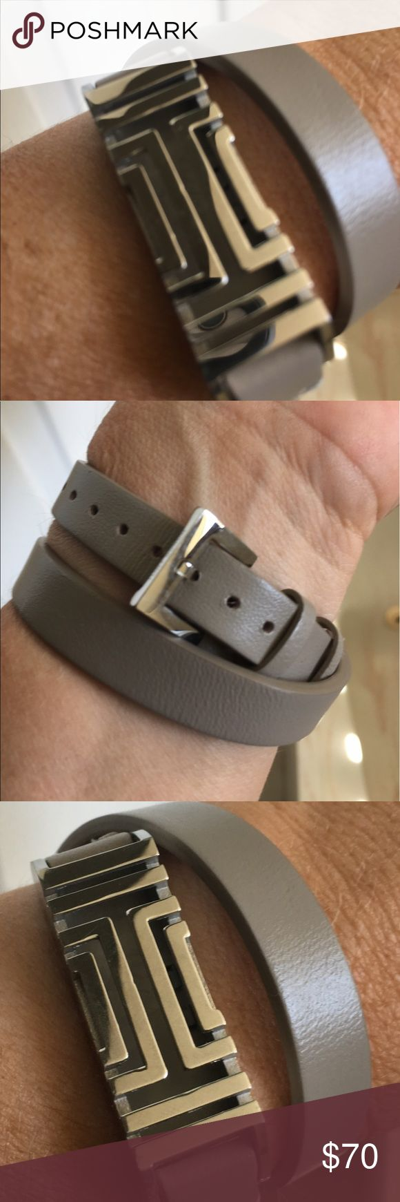 Tory Burch wrap Fitbit bracelet Mint condition. Only worn a few times. Great for work. Who doesn't need a beautiful Fitbit holder. No one even knows you're wearing a fitness tracker. Tory Burch Jewelry Bracelets