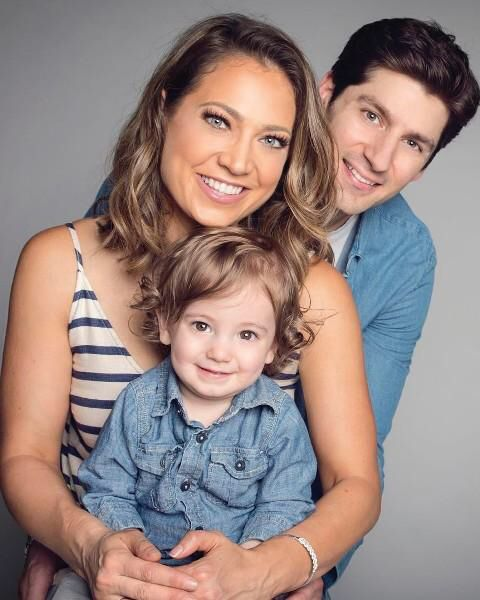 Ginger Zee, husband Ben Aaron Colonomos with son