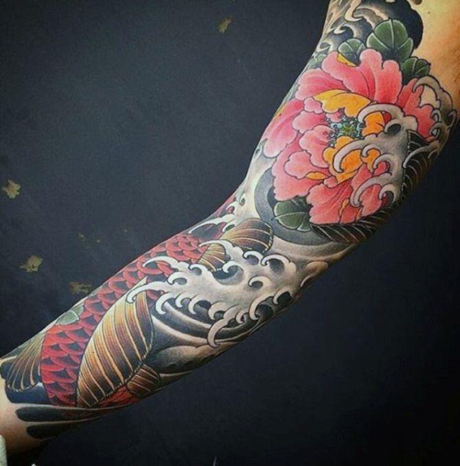 Ideas Flower Tattoo Sleeve Japanese Tattoo Sleeve Tattoos Flower Tattoo Sleeve