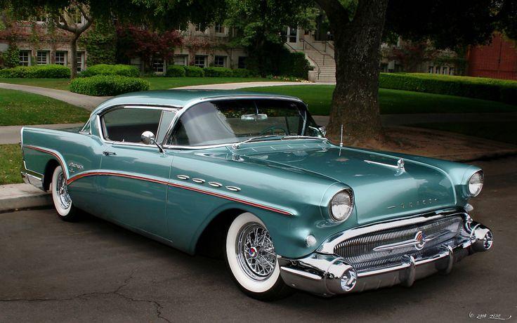 American Muscle Cars… 1957 Buick Roadmaster 75 #BuickRoadmasterConvertible #winddeflector #windscreens http://www.windblox.com/