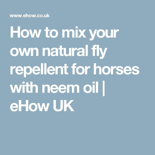 How to mix your own natural fly repellent for horses with neem oil | eHow UK