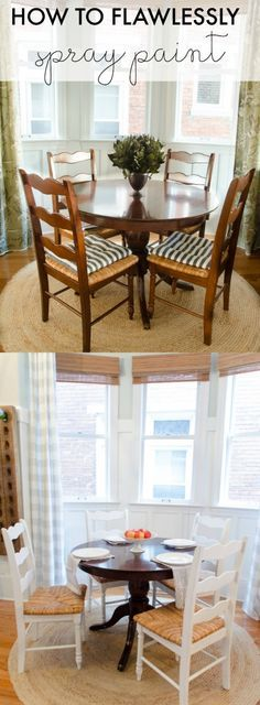 Great tips on how to flawlessly spray paint furniture to receive a perfect finish. Covers step-by-step process with pictures and supply suggestions.