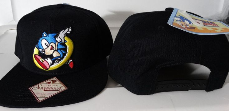 Sonic The Hedgehog Jumping Thru Ring Sega Video Game Snap Back Hat  #SEGA #SnapBack