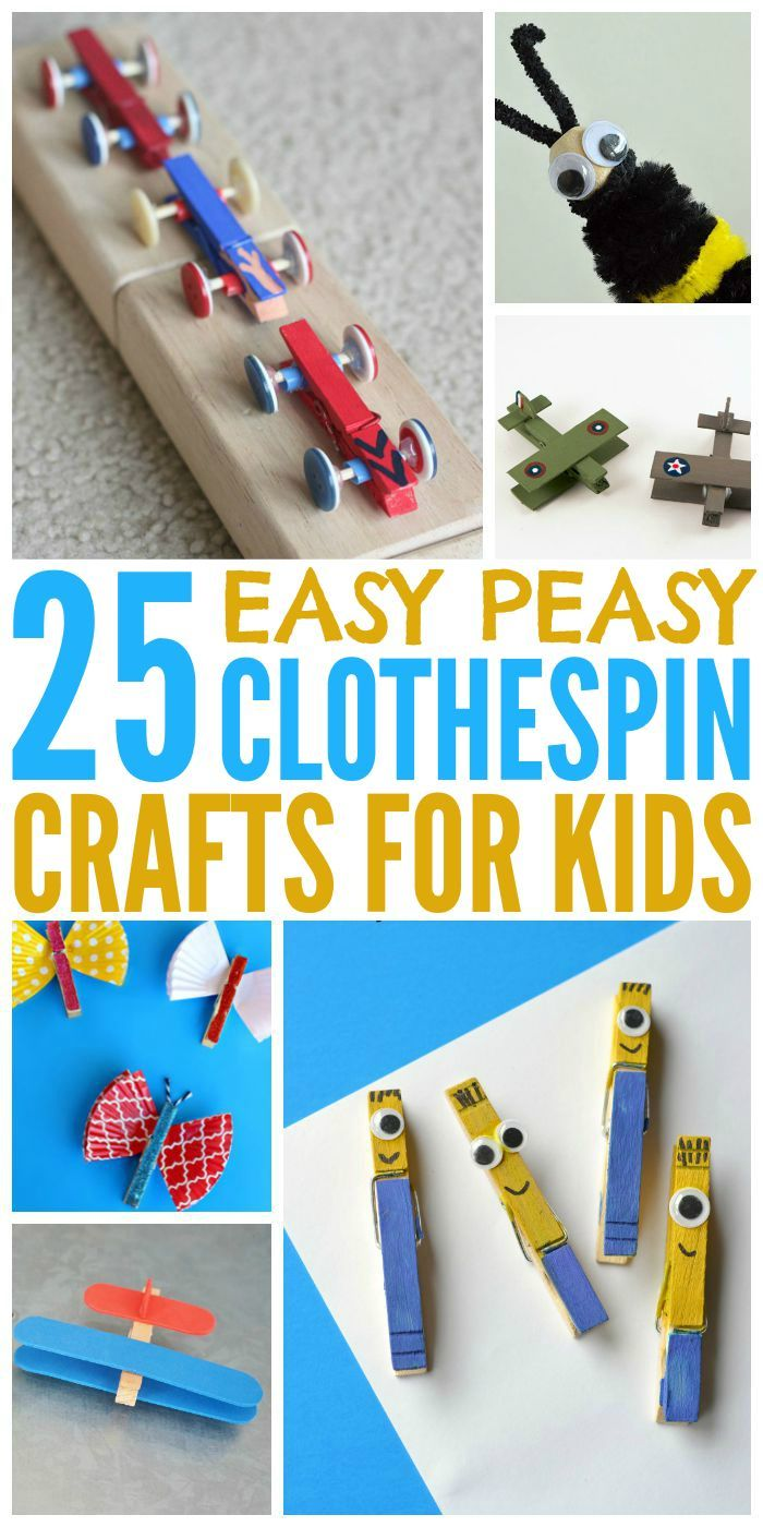 Craft toys for kids - 25 Easy Clothespin Crafts For Kids