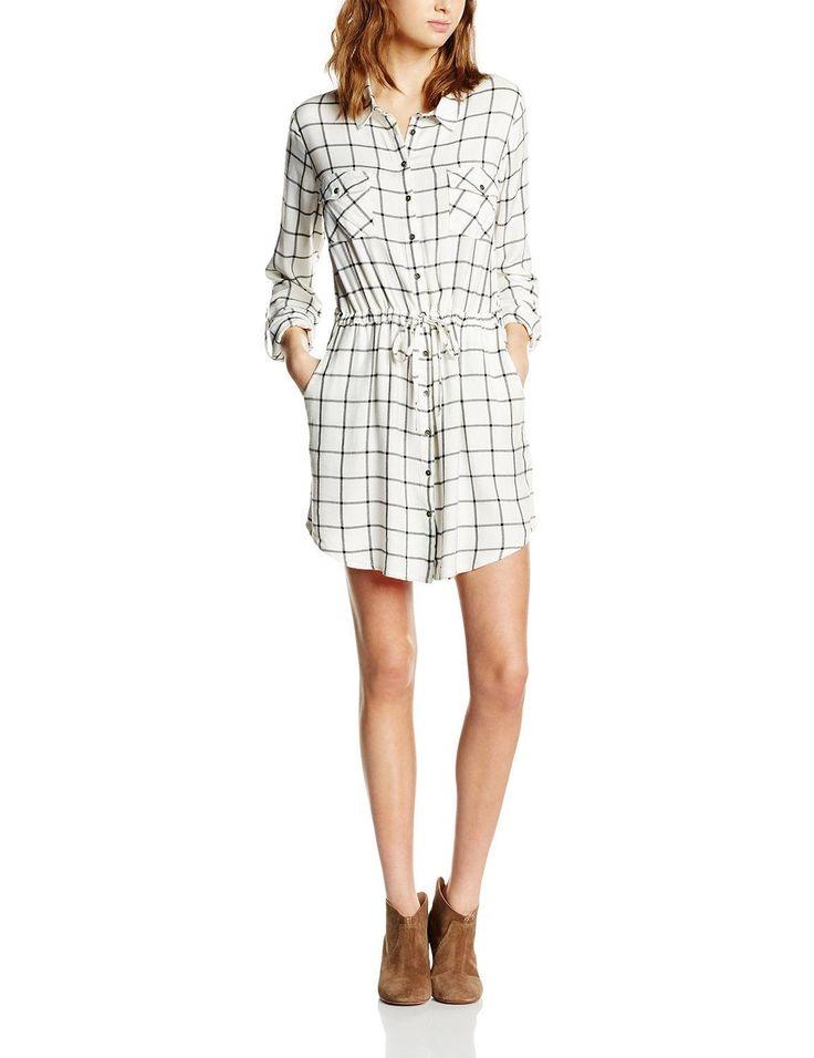 Vestido cuadros hipster mujer camisero con diseño de cuadros, abotonado y con bolsillos, ideal para esta primavera - verano.