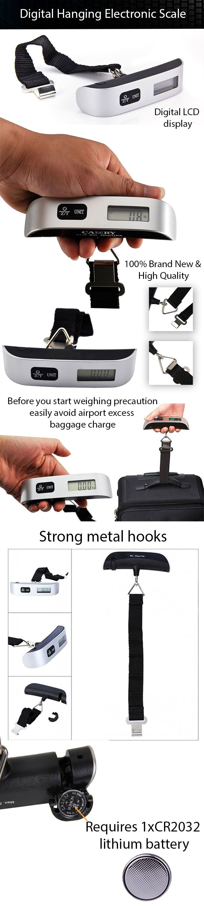 Wanna avoid excess baggage charge at airport? Use Digital Hanging Electronic Scale
