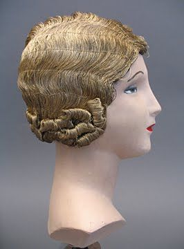 gold thread wig