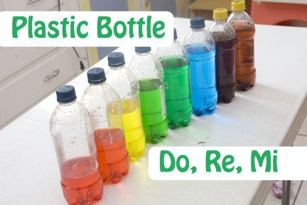 Do Re Mi Bottles - DIY instrument to make music with kiddos