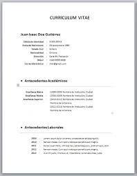 Resultado De Imagen Para Curriculum Vitae Chile Curriculum Vitae