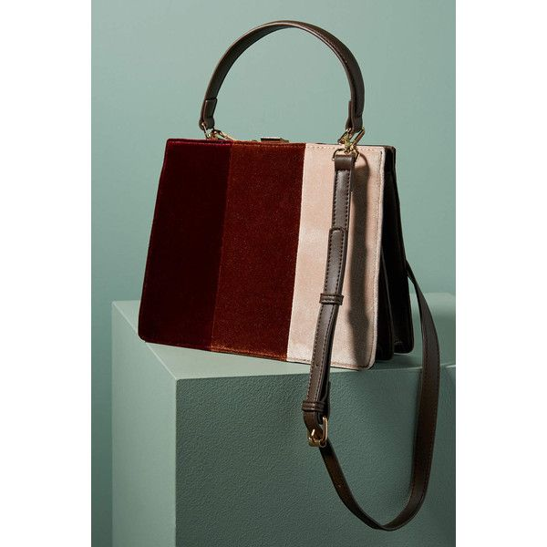 Anthropologie Colorblock Velvet Tote Bag ($78) ❤ liked on Polyvore featuring bags, handbags, tote bags, wine, handbags totes, zippered tote bag, zip tote bag, wine tote purse and tote bag purse