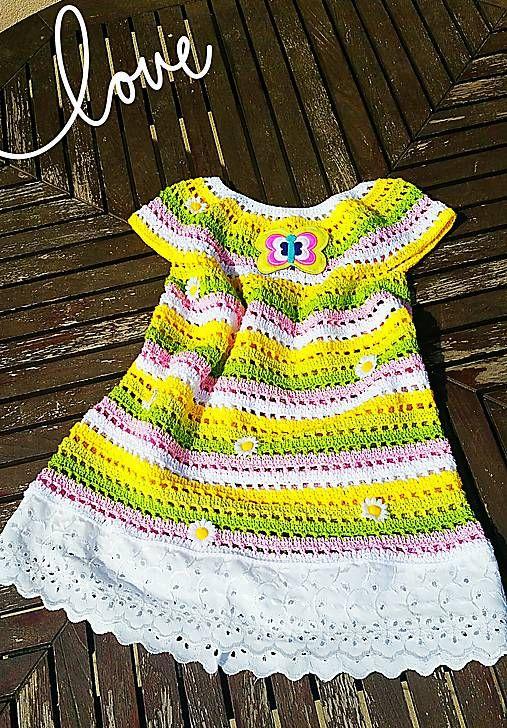 beate1 / Háčkované šaty-dievčenské č.1
