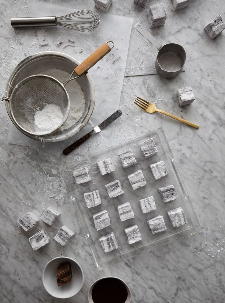 DIY MARBLE MARSHMALLOWS! Get the recipe on the west elm blog.