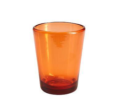 Tulum Acrylic Double Old Fashioned, Set Of 4, Orange