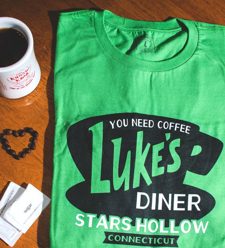 """You Need Coffee. Luke's Diner, Stars Hollow, CT"" t-shirt. Gilmore Girls fans, this shirt is for you. TV shirts."