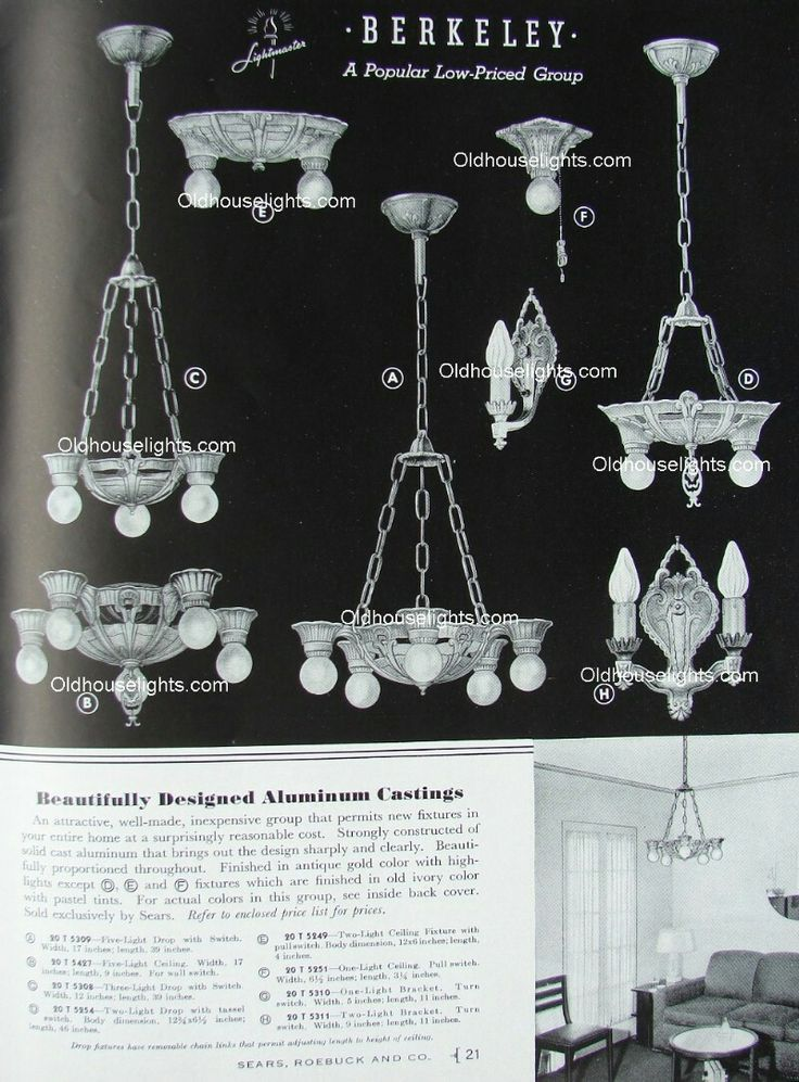 63 best Deco 30s Cast Alum Chandelier Lincoln Mfg. Sears Berkeley ...