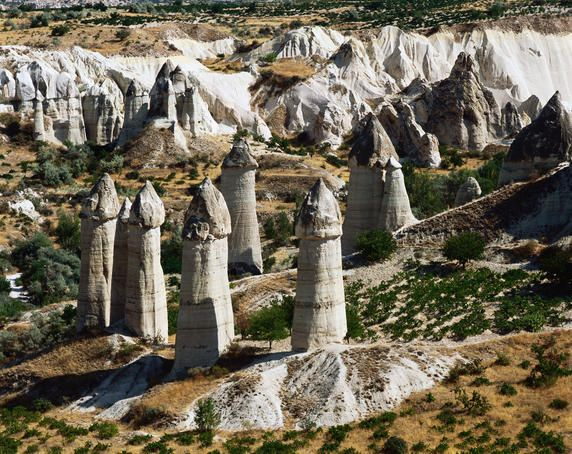 They are called fairy chimneys! (Cappadocia, Turkey)