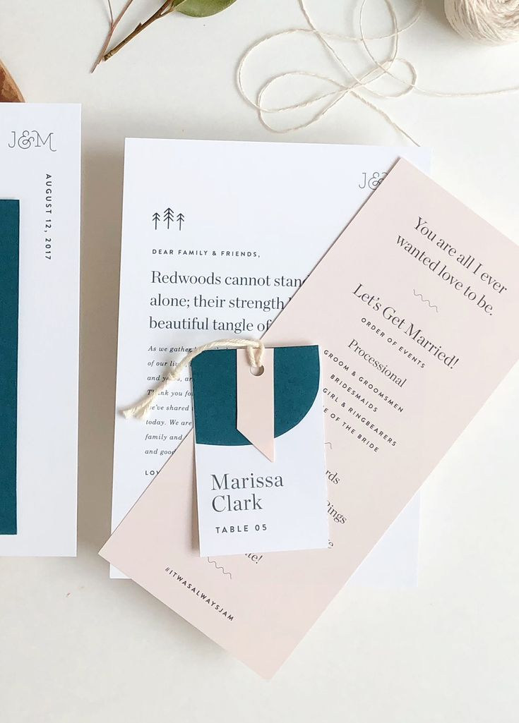 addressing wedding invitations married woman doctor%0A Understated Blush and Teal Wedding Invitations