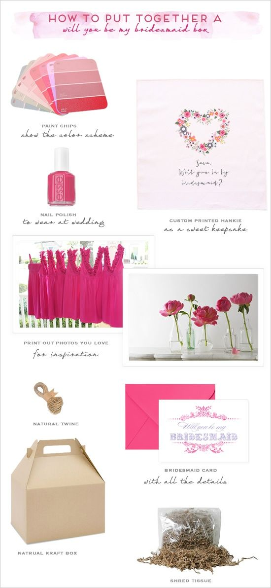 Cute Ideas To Ask Bridesmaids To Be In Your Wedding