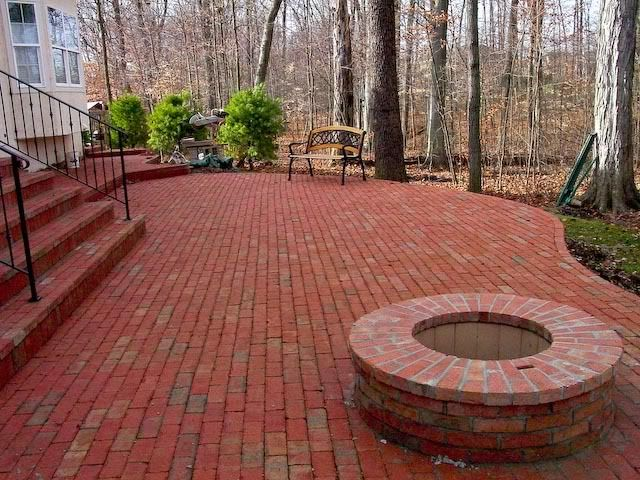 Brick Patio/firepit | Outdoor Spaces | Pinterest | Bricks, Brick Patios And  Patios