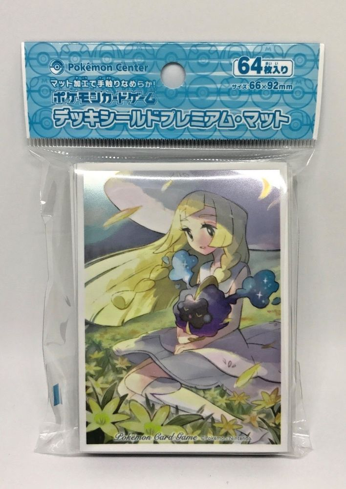 New Pokemon Official Premium Sleeve, Lillie and Cosmog 64 Sleeves Japan Limited #Pokemon