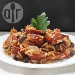 Foto recept: Spaanse rijst met worst